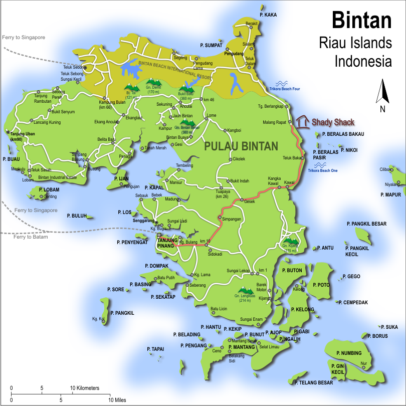 Detailed map of Bintan